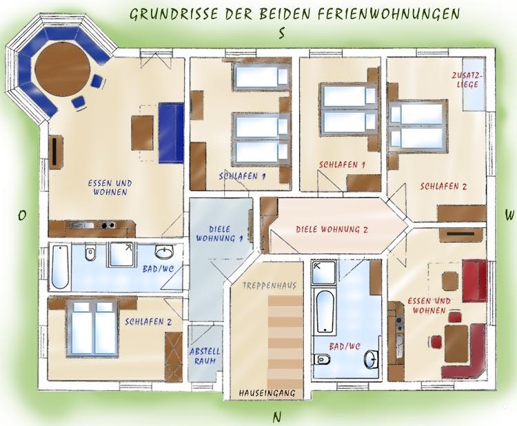 Grundriss FeWos Nebenhaus