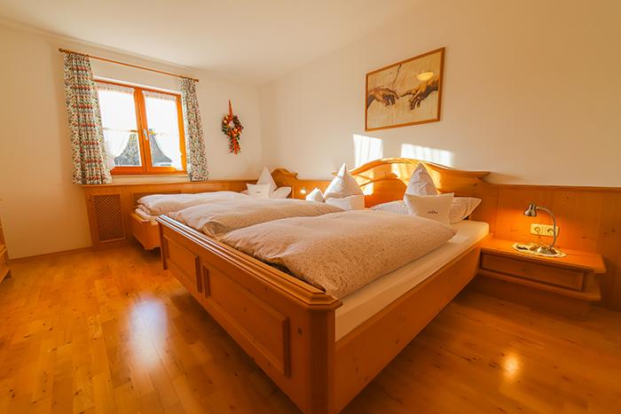 3-Bett-Schlafzimmer Ferienwohnung Seekar