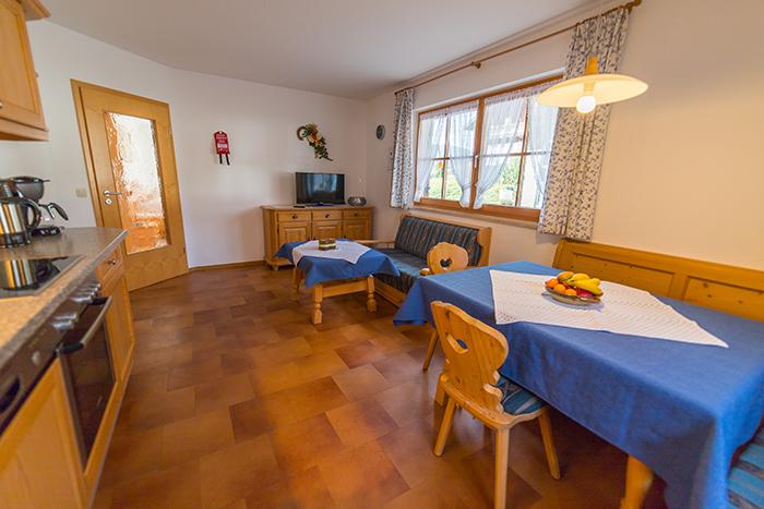 Wohnküche Ferienwohnung Brauneck