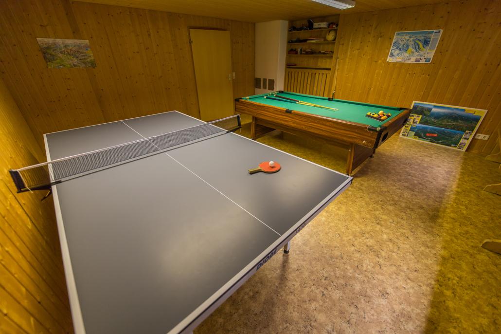 Tischtennis- und Billardraum